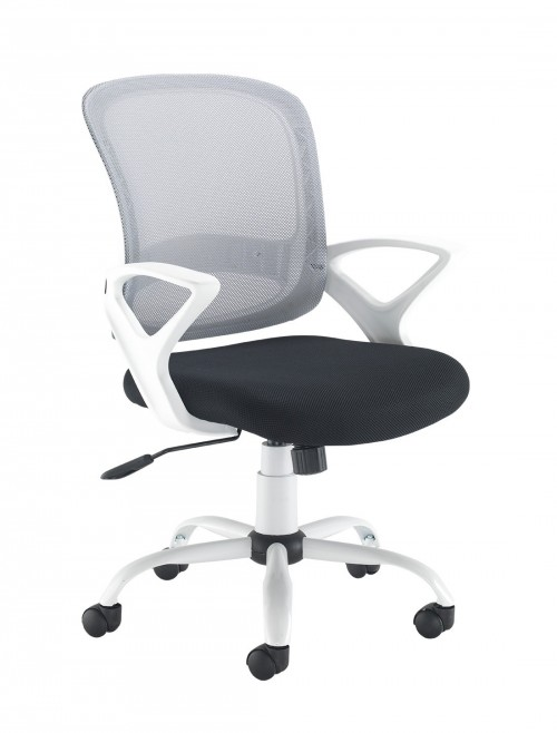 Mesh Office Chair White Tyler TYL-300T1 by Dams
