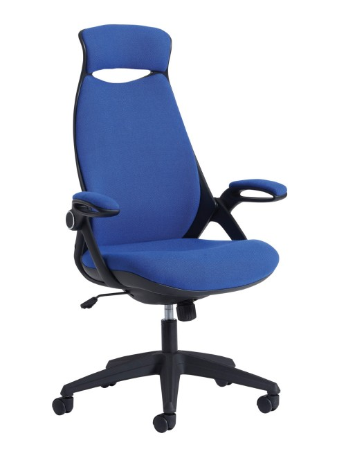 Dams Tuscan Fabric High Back Managers Chair TUS300T1-B