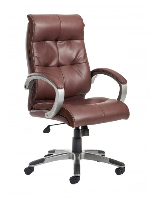 Catania Leather Faced Manager High Back Chair CAT300T1