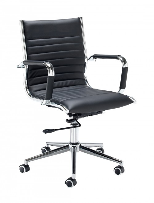 Dams Bari Medium Back Faux Leather Executive Chair BARI200T1