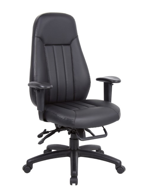 Zeus 24 Hour Leather Heavy Duty Task Chair ZEU300K2