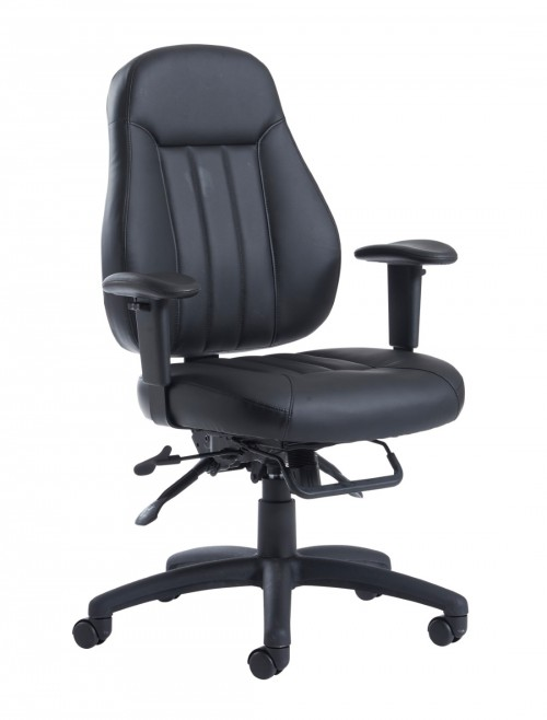 Dams Zeus Medium Back 24 Hour Faux Leather Task Chair ZEU200K2