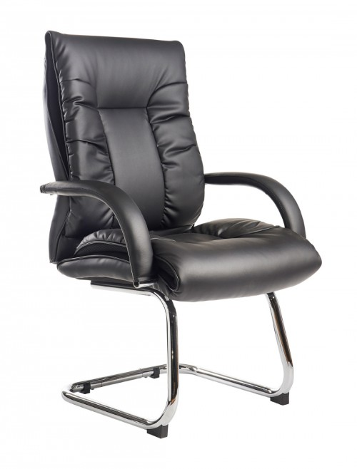 DER100C1-BLK Derby Executive Faux Leather Visitor Chair