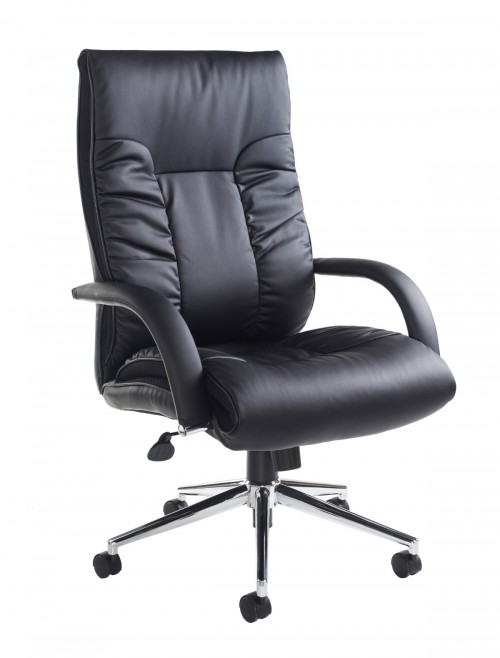 DER300T1-BLK Derby High Back Faux Leather Executive Chair