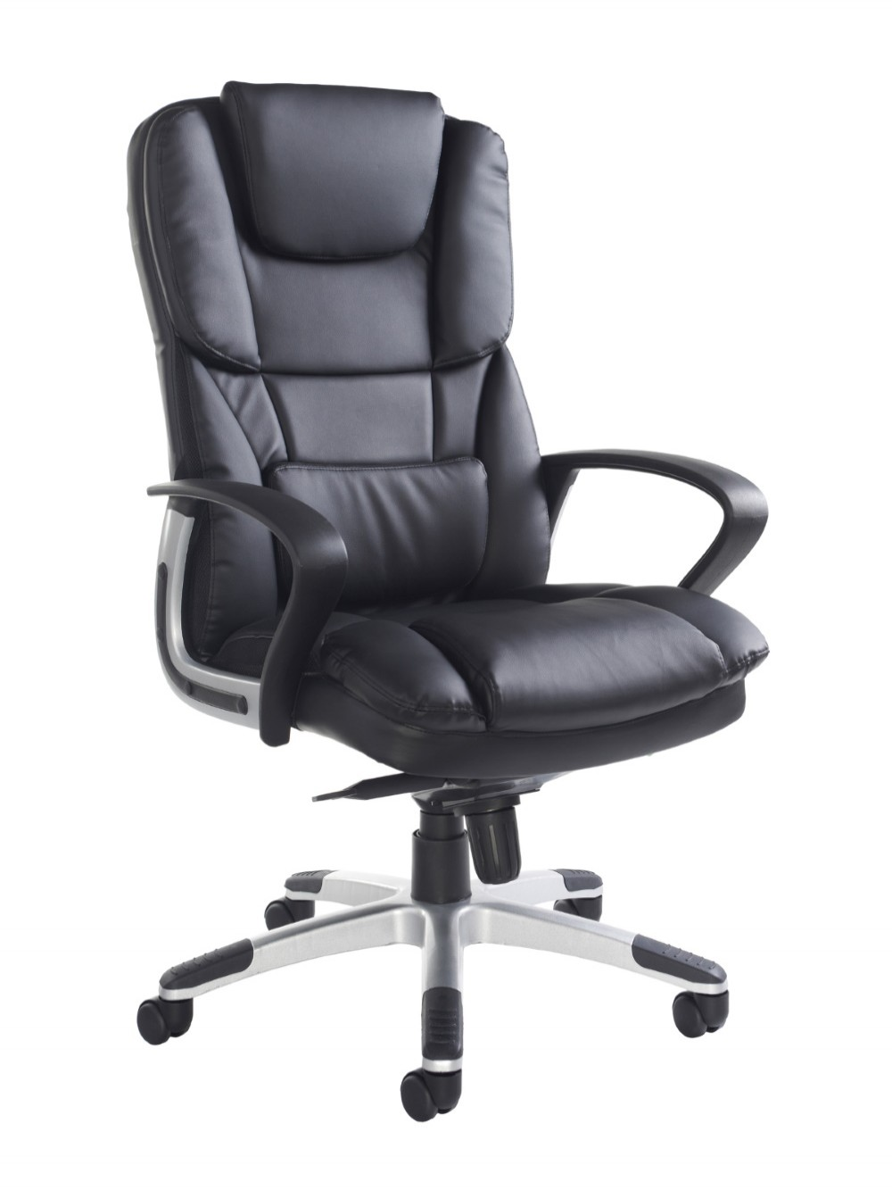 Office Chair Black Faux Leather Palermo Executive Chair PAL300K2 by Dams