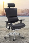 Ergonomic Office Chair Black Faux Leather Dynamo DYNX401E1-C by Dams - enlarged view