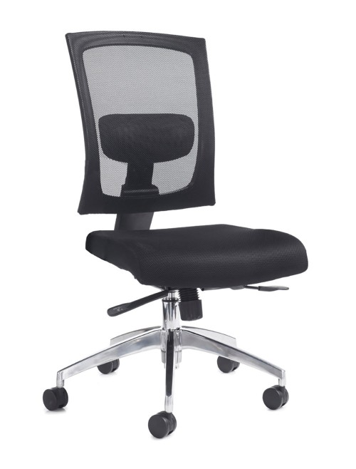Mesh Office Chair Black Gemini Task Chair GEM300K2 by Dams