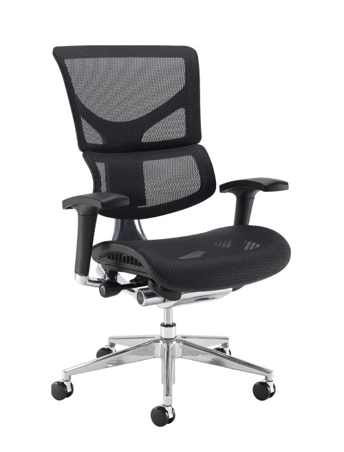 Office Chair Black Mesh Dynamo Ergo DYNX300E1-C by Dams