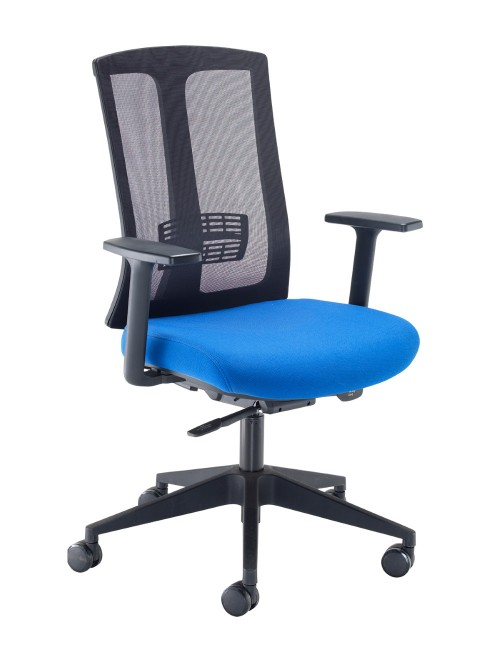 Mesh Office Chair Blue Ronan Operators Chair RON300T1-B by Dams