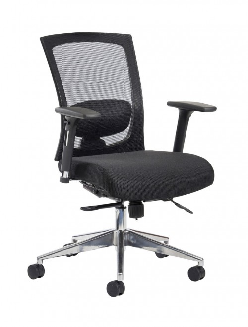 Mesh Office Chair Black Gemini Task Operators Chair GEM301K2 by Dams
