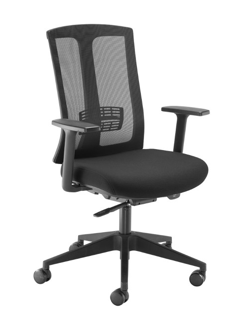 Mesh Office Chair Black Ronan Operators Chair RON300T1-K by Dams