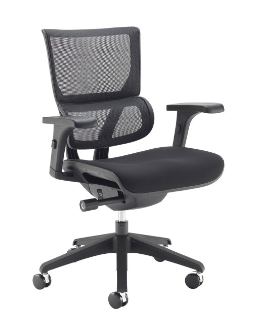 Office Chair Black Mesh Dynamo DYN300K2-K with Black Frame by Dams