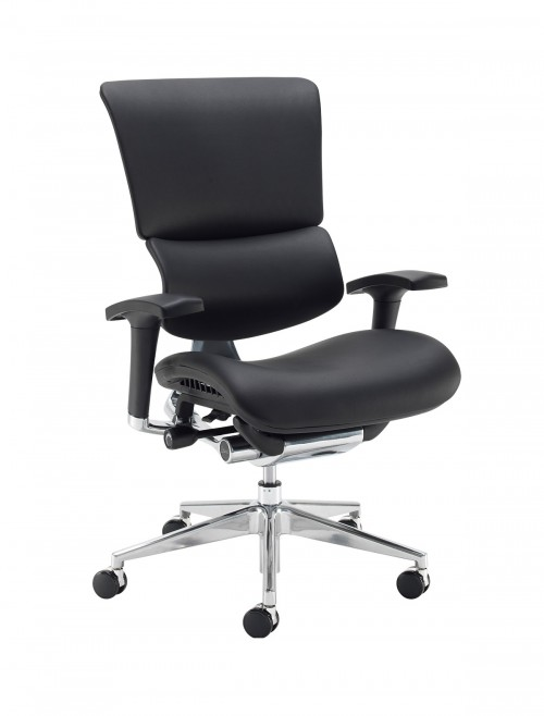Office Chair Black Bonded Leather Dynamo Ergo DYNX400E1-C by Dams