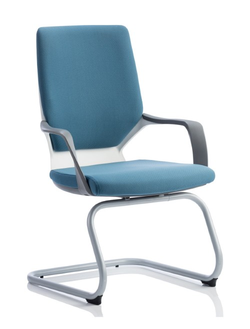 Dynamic Xenon Blue Fabric Cantilever Visitor Chairs BR000142