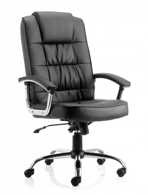 Moore Deluxe Executive Black Leather Office Chair