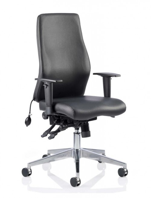 Office Chairs - Onyx 24 Hour Bonded Leather Office Chair IVONYX06