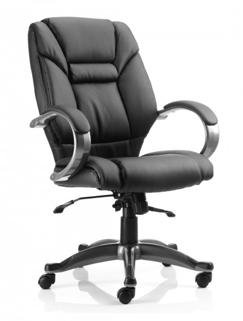 Office Chairs - Galloway Executive Leather Armchair in Black
