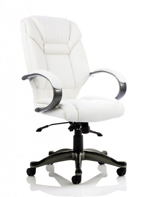 Office Chairs - Galloway Executive Leather Armchair in Ivory