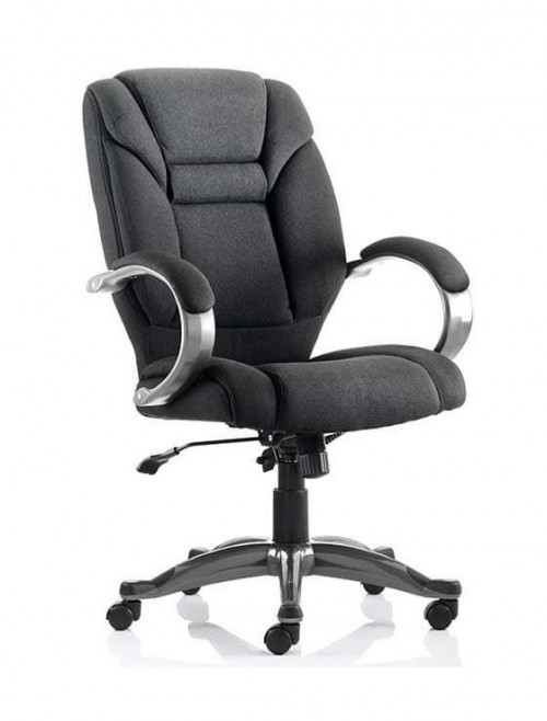 Office Chairs - Galloway Executive Fabric Armchair in Black