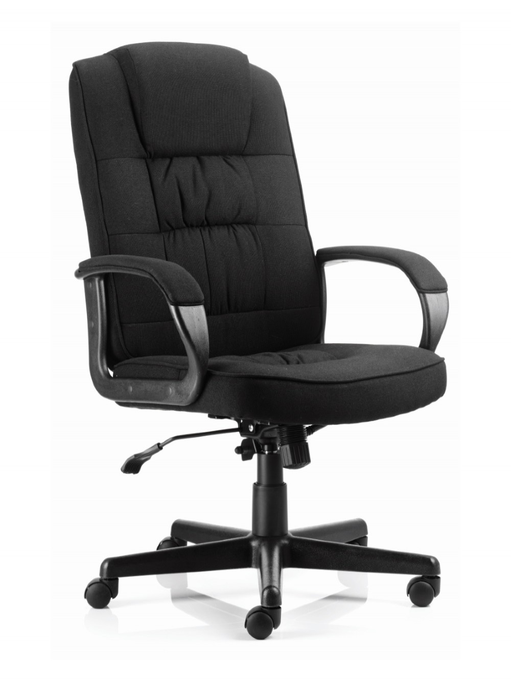 Picture of: Dynamic Moore Executive Fabric Chair In Black 121 Office Furniture