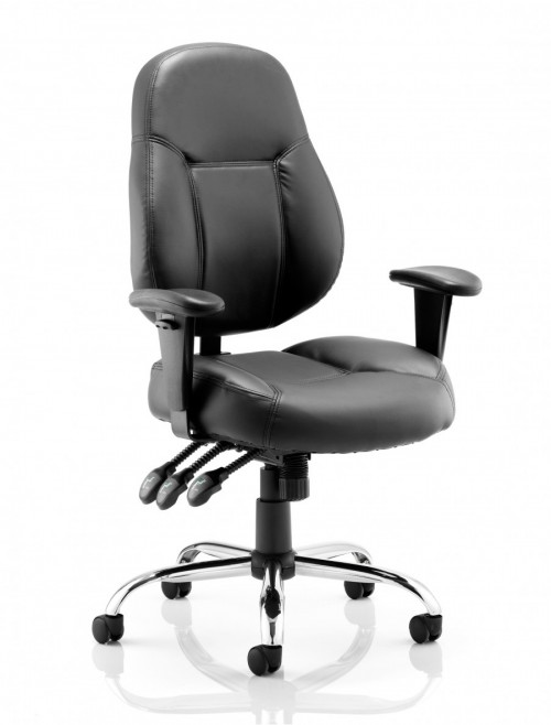 Office Chairs - Dynamic Storm Bonded Leather Task Chair OP000129