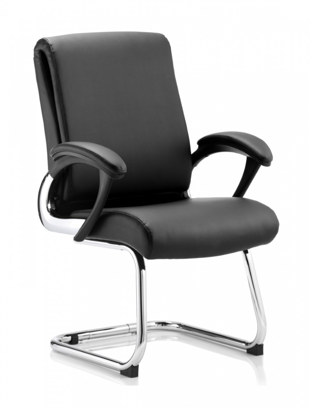 Dynamic Romeo Leather Folding Cantilever Visitors Chair