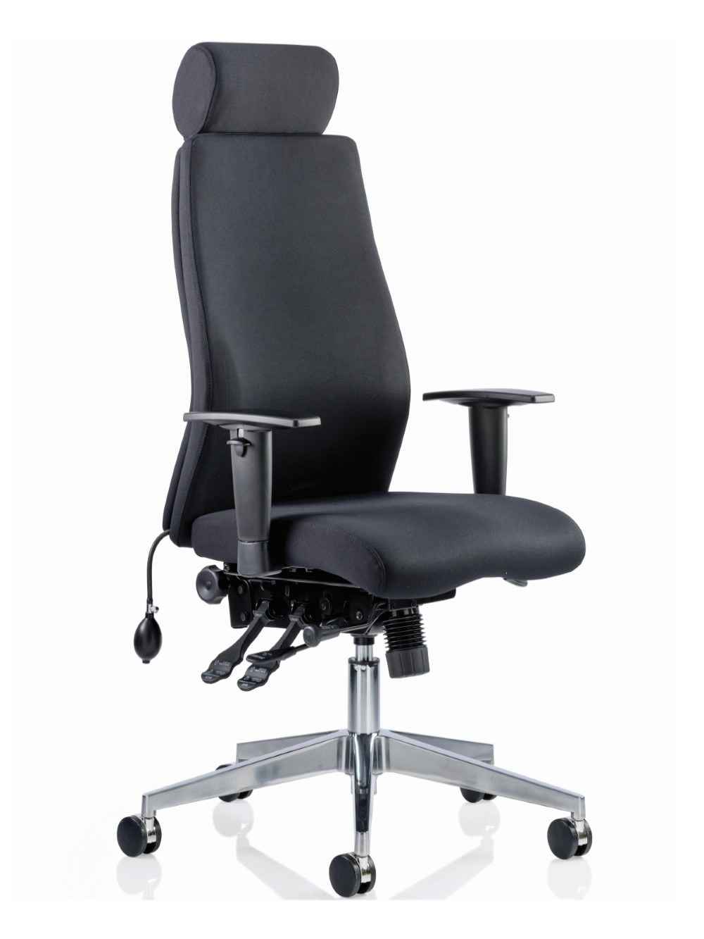 Picture of: Dynamic Onyx Fabric Office Chair With Headrest Op000096 121 Office Furniture