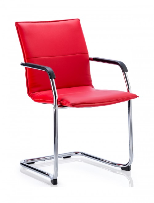 Echo Cantilever Red Leather Visitors Chair ECHOR