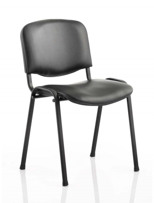 Iso Vinyl Reception Visitors Chair Black Frame
