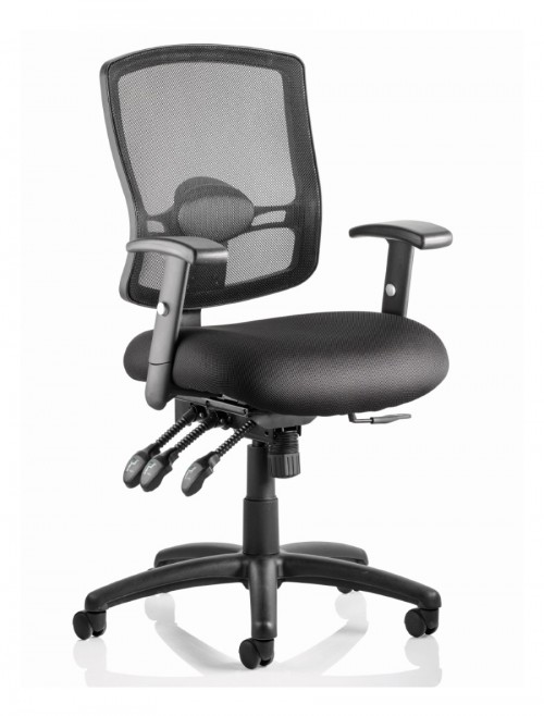 Office Chairs - Dynamic Portland 3 Black Mesh Office Chair OP000110