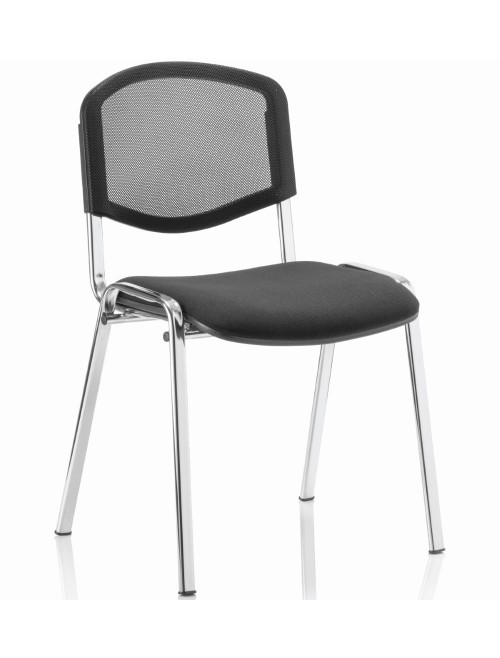 Iso Mesh Reception Visitors Chair Chrome Frame