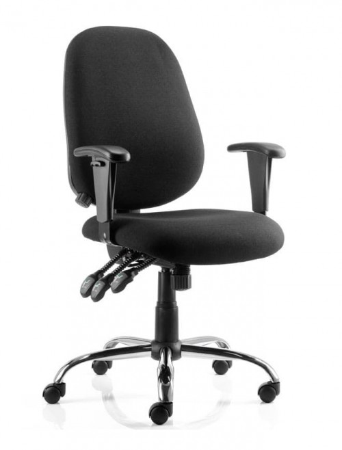 Office Chairs - Lisbon Fabric Operators Chair in Black OP000073
