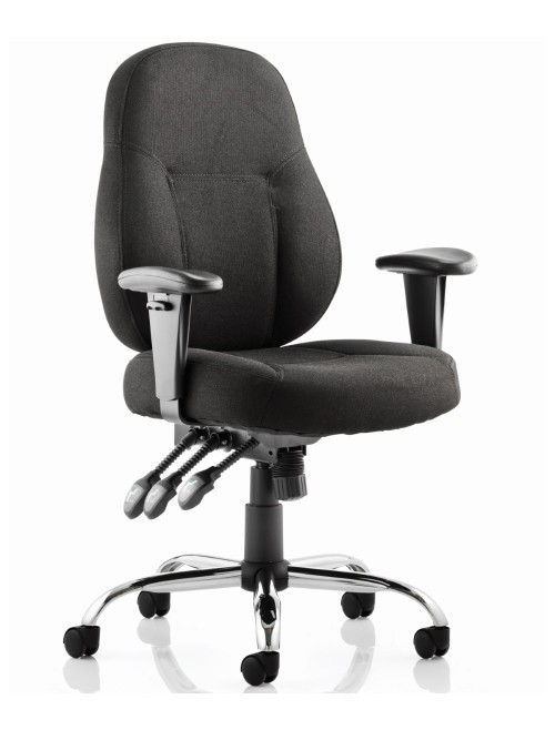 Office Chairs - Dynamic Storm Fabric Operator Chair in Black