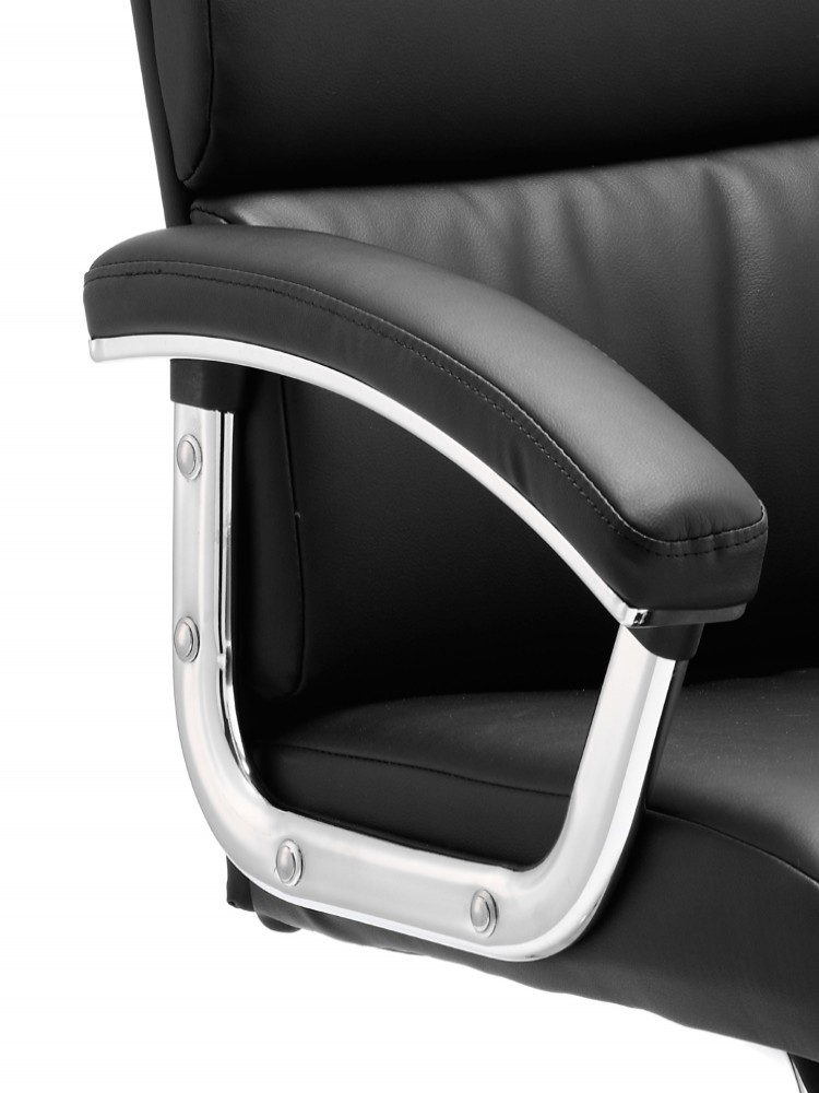 Dynamic Desire Leather Cantilever Visitor Chairs in Black