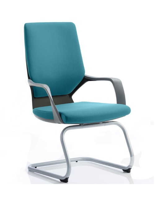 Dynamic Xenon Blue Fabric Cantilever Visitor Chairs BR000136