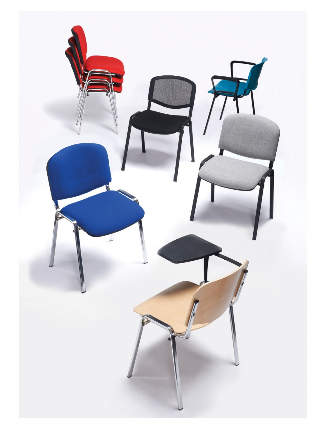 4 Pack of Stacking Chairs Taurus Mesh Back Meeting Chairs TAUMA BOXTAUKA by Dams