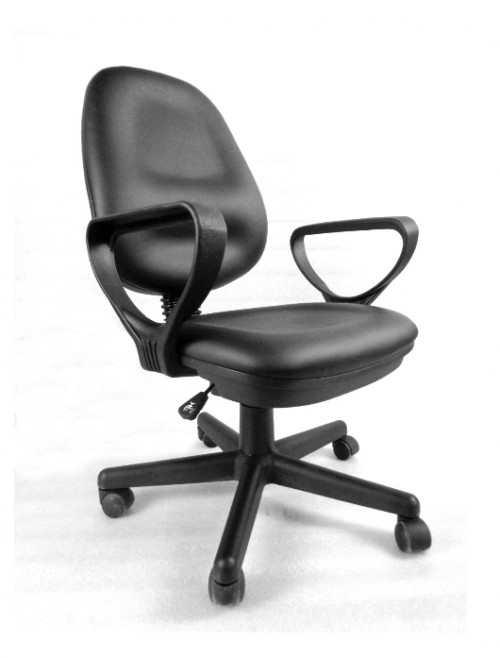 Office Chair Black Lisbon Operator Chair BCP/S600/BK by Eliza Tinsley