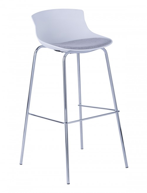 Barstool White Helena ABS7085WHT by Alphason