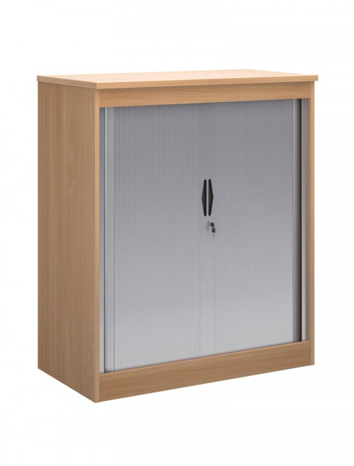 Office Storage 1200mm High System Tambour Cupboard ST12 by Dams