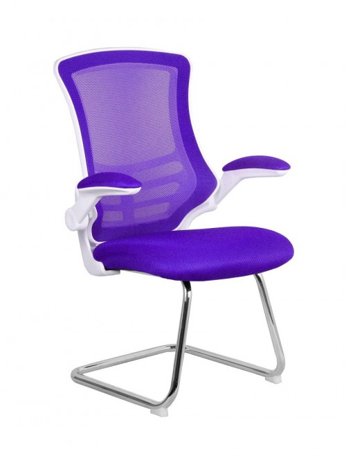 Mesh Visitors Chair Purple Luna BCM/L1302V/WH-PL by Eliza Tinsley