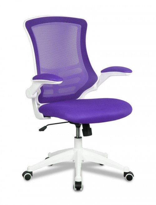 Mesh Office Chair Purple Luna BCM/L1302/WH-PL by Eliza Tinsley
