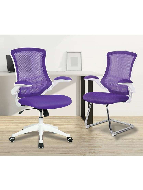 Mesh Office Chair Purple Luna Bcm L1302 Wh Pl By Eliza
