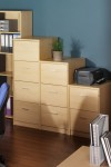 Deluxe Executive 3 Drawer Filing Cabinet LF3 - enlarged view