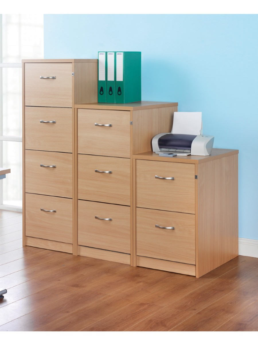 Deluxe Executive 4 Drawer Filing Cabinet LF4