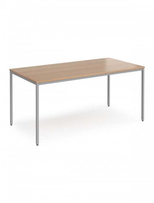 Dams Flexi-Table 1600x800mm Rectangular with Silver Frame FLXS16