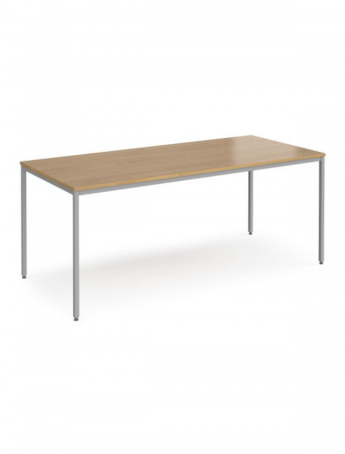 Dams Flexi-Table 1800x800mm Rectangular with Silver Frame FLXS18