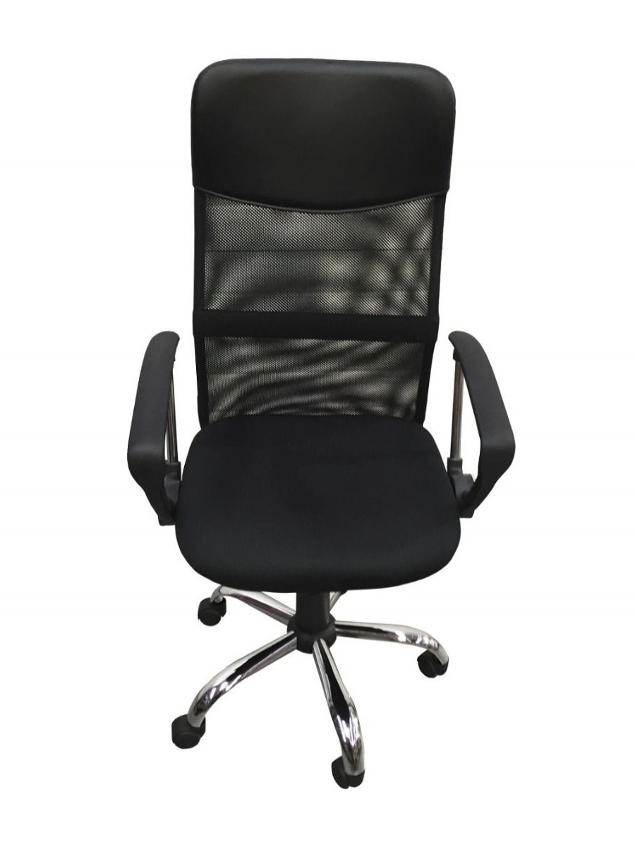 Computer Desk and Chair Bundle - Cabrini Home Office Desk and Orlando Mesh Office Chair