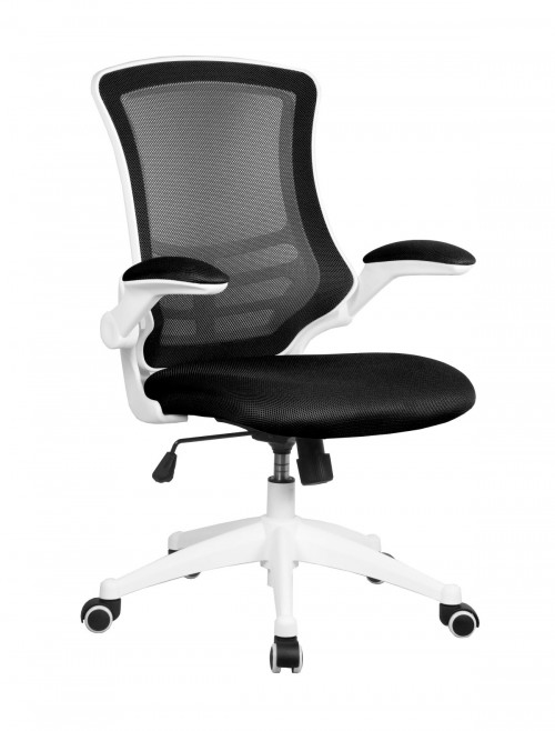 Mesh Office Chair Luna Black BCM/L1302/WH-BK by Eliza Tinsley