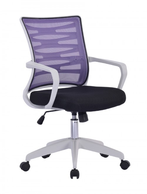 Mesh Office Chair Purple Spyro BCM/K488/WH-PL by Eliza Tinsley