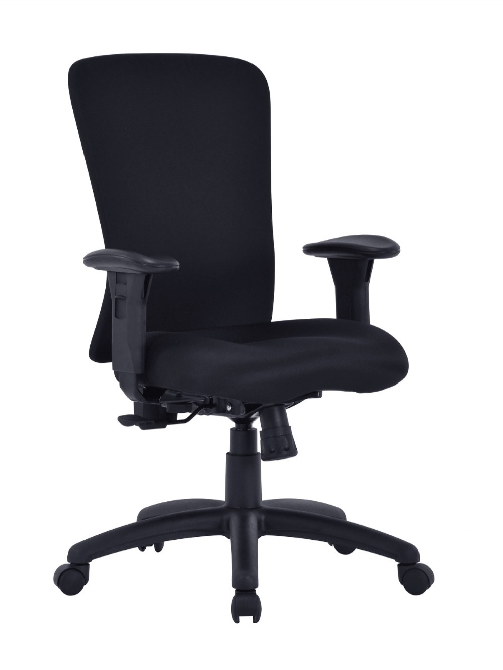 Black Office Chair Fortis Bariatric Fabric Task Chair BCF/K360/BK by Eliza Tinsley